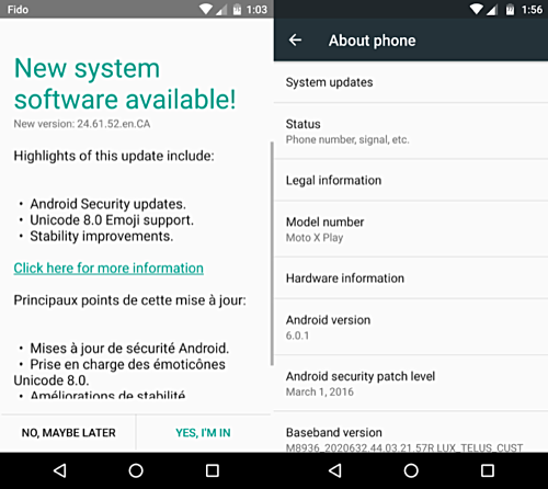 Android 6.0.1 Update Rolling Out For Moto X Play In Canada And India