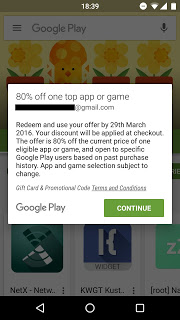 google play discount