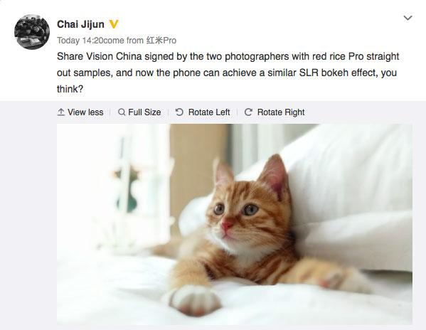Xiaomi Redmi Pro Camera Sample
