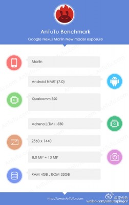Nexus ' Marlin ' Appeared On AnTuTu, Quad HD Screen Confirmed Publish