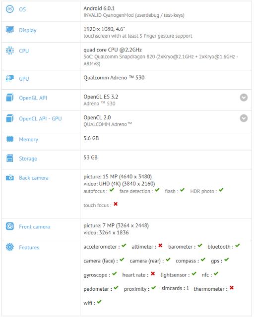 OnePlus 3 Mini Specs Leaked Via GFX Benchamark