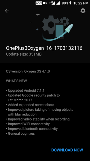 OxygenOS 4.1 Update