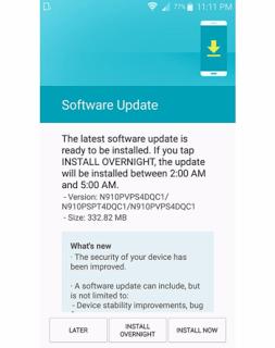 Galaxy Note 4 Update