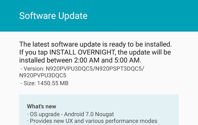 Android Nougat OTA Update