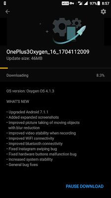 Oxygen OS 4.1.3 Update