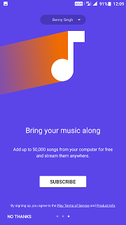 Google Play Music Subscription Service
