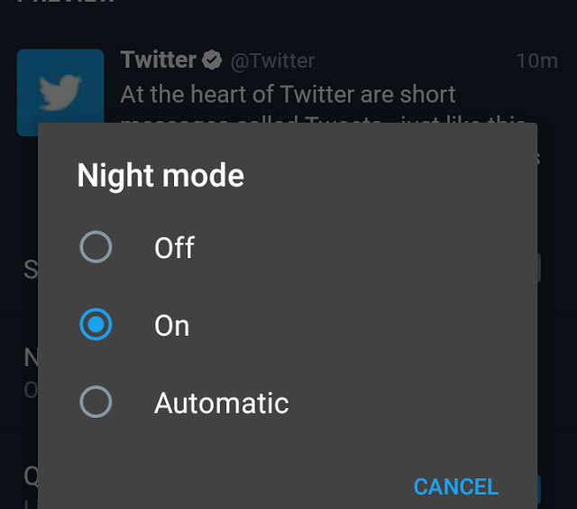 Twitter Reportedly Working On An Automatic Night Mode Feature