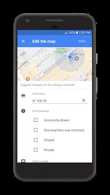 Edit Road Google Map