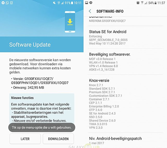 Samsung Galaxy S7 Getting The May Security Update