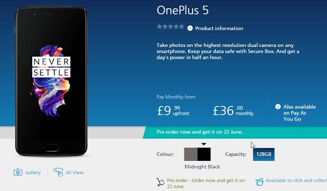OnePlus 5 UK
