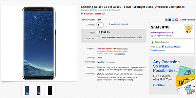 Deal: Snag Unlocked Samsung Galaxy S8/S8 Plus For $600 And $700 In US