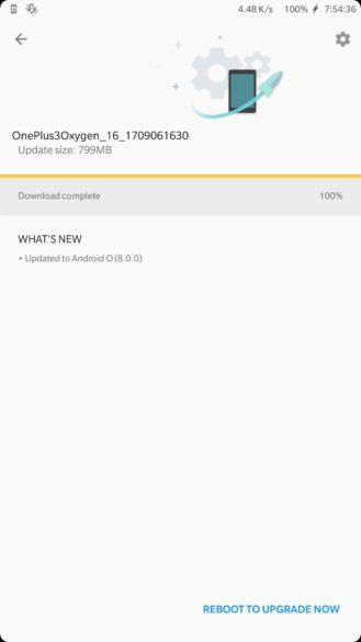 Oreo OnePlus 3