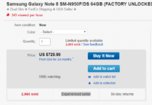 Galaxy Note 8 eBay Deal