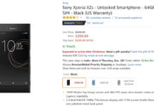 Sony Xperia XZs Deal