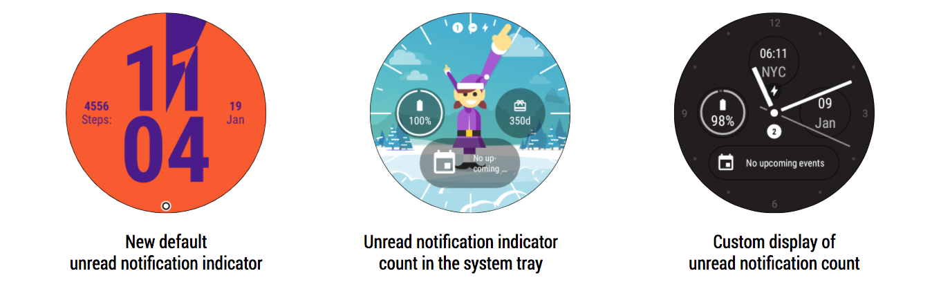 Android Wear Notification Dots