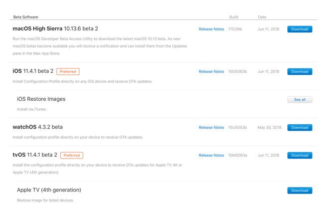 pple iOS 11.4 beta 2