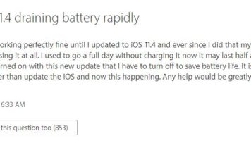 iOS Battery Drain Issue