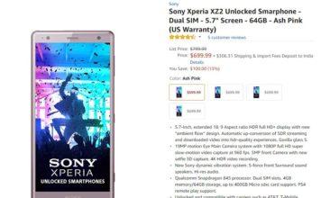 Sony Xperia XZ2 Deal