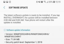 Security Update Note9