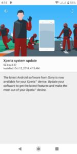 Xperia XZ2 Android 9 Update
