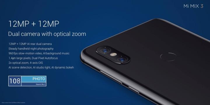 Xiaomi Mi Mix 3 ArtX Technology