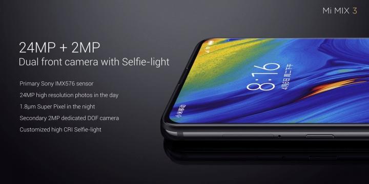 Xiaomi Mi Mix 3 Front Camera